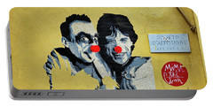 Street Art In The Trastevere Neighborhood In Rome Italy Portable Battery Charger