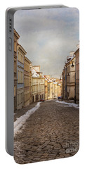Portable Battery Charger featuring the photograph Street In Warsaw, Poland by Juli Scalzi
