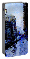 Street Lamps Sidewalk Abstract Portable Battery Charger