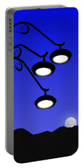 Street Light And Moonrise Portable Battery Charger