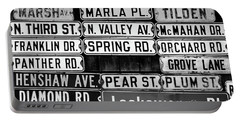 Portable Battery Charger featuring the photograph Street Names by Colleen Kammerer