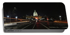 Street Scene At The Capitol Portable Battery Charger