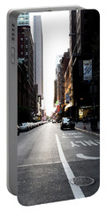 Portable Battery Charger featuring the photograph Street Scene by Lora Lee Chapman
