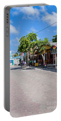 Portable Battery Charger featuring the photograph Street Scene Of San Pedro by Lawrence Burry