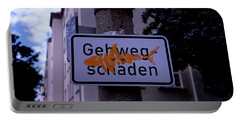 Street Sign With Graffiti Portable Battery Charger