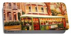 Streetcar In The Garden District Portable Battery Charger