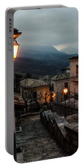 Streets Of Italy - Caramanico Portable Battery Charger by Andrea Mazzocchetti