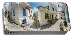 Streets Of Skopelos Portable Battery Charger