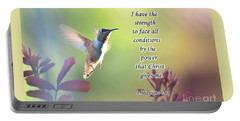 Strength Through Christ Portable Battery Charger by Debby Pueschel