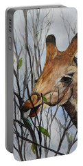 Portable Battery Charger featuring the painting Stretch by Betty-Anne McDonald