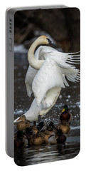 Stretching Swan Portable Battery Charger