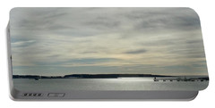 Striated Sky Over Casco Bay Portable Battery Charger