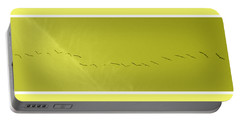 String Of Birds In Yellow Portable Battery Charger