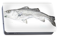 Portable Battery Charger featuring the digital art Striped Bass by A Gurmankin