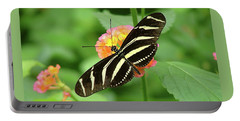 Striped Butterfly Portable Battery Charger by Wendy McKennon