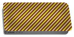 Stripes Diagonal Chocolate Banana Yellow Toffee Cream Portable Battery Charger