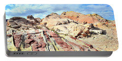 Stripes Of Valley Of Fire Portable Battery Charger