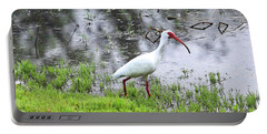 Strolling Ibis Portable Battery Charger by Carol Groenen