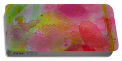 Portable Battery Charger featuring the painting Stronger Every Day by Tracy Bonin