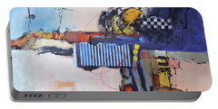 Portable Battery Charger featuring the painting Structured by Ron Stephens