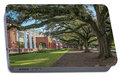 Portable Battery Charger featuring the photograph Student Union Oaks by Gregory Daley  PPSA