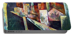 Portable Battery Charger featuring the painting Studio by Shadia Derbyshire
