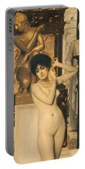 Study For Allegory Of Sculpture Portable Battery Charger