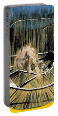 Study For Crouching Nude Portable Battery Charger