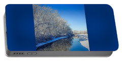 Portable Battery Charger featuring the photograph Study In Blue by Kendall McKernon