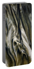 Portable Battery Charger featuring the photograph Study In Brown Abstract Sands by Rikk Flohr