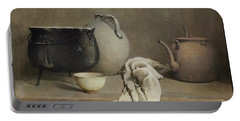 Portable Battery Charger featuring the painting Study In Grey by Emil Carlsen