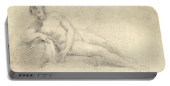 Study Of A Female Nude  Portable Battery Charger
