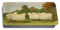 Study Of Sheep In A Landscape   Portable Battery Charger