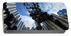 Portable Battery Charger featuring the photograph Study Of The Sibelius Monument by Harvey Barrison
