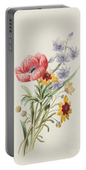 Study Of Wild Flowers Portable Battery Charger
