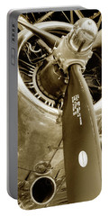 Stunning Propeller In Sepia Portable Battery Charger