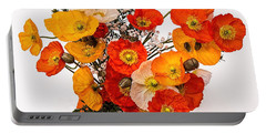 Stunning Vibrant Yellow Orange Poppies  Portable Battery Charger