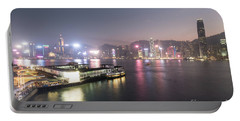 Stunning View Of The Twilight Over The Victoria Harbor And Star  Portable Battery Charger