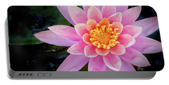 Stunning Water Lily Portable Battery Charger