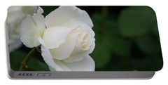 Stunning White Tineke Rose Portable Battery Charger