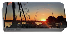 Sturgeon Bay Sunset Portable Battery Charger by Rod Seel