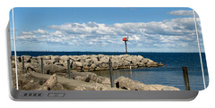 Sturgeon Point Marina On Lake Erie Portable Battery Charger by Rose Santuci-Sofranko
