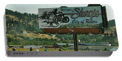 Sturgis City Of Riders Portable Battery Charger by Anna Ruzsan