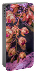 Stylized Orchids Portable Battery Charger