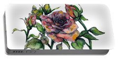 Stylized Roses Portable Battery Charger