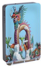 Portable Battery Charger featuring the photograph Suan Sawan Golden Dancing Dragon Dthns0144 by Gerry Gantt