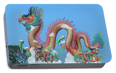 Portable Battery Charger featuring the photograph Suan Sawan Golden Dancing Dragon Dthns0147 by Gerry Gantt