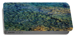 Submerged Rocks At Lake Superior Portable Battery Charger
