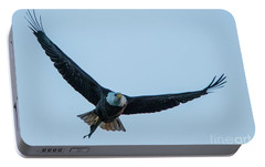 Portable Battery Charger featuring the photograph Successful Bald Eagle by Jeff at JSJ Photography