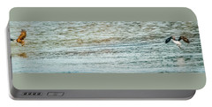 Portable Battery Charger featuring the photograph Successful Dynamic Duo Panoramic by Jeff at JSJ Photography